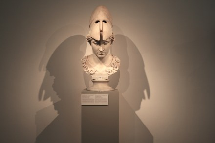 The stone for this artwork had already been millions of years old when it was used for carving this copy of the head of a Greek statue from around 400 BC.