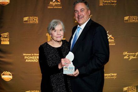 Patsy Fell-Barker receives the 2020 Women in Stone Pioneer Award.