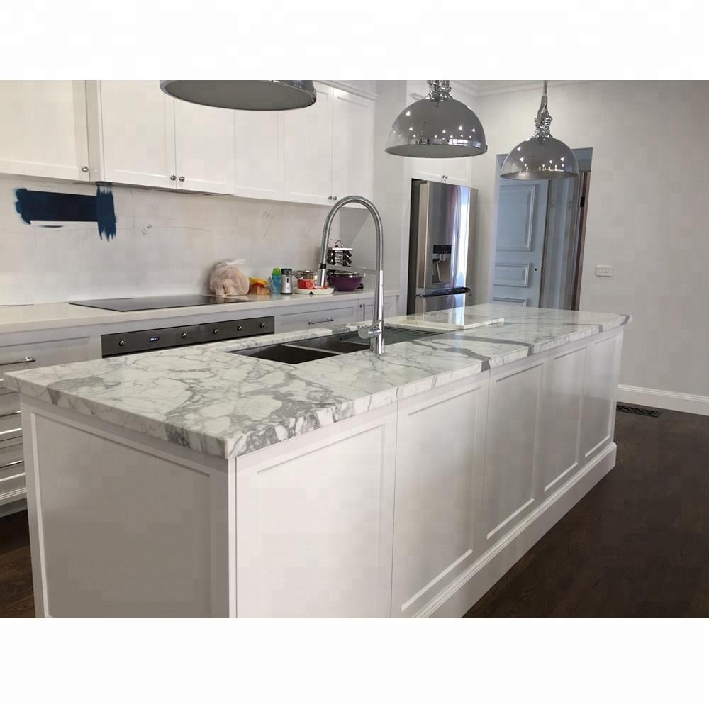 precut kitchen calacatta white marble