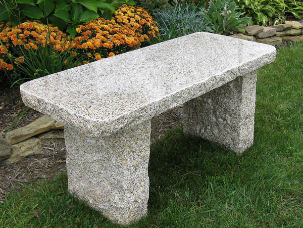 Gold Granite Outdoor Bench By Stone Age Creations