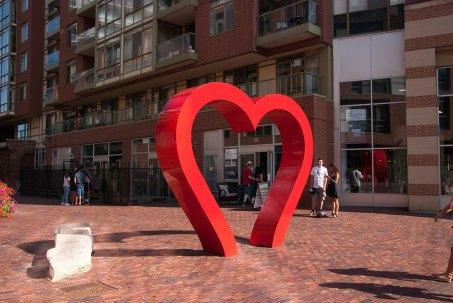 Toronto distillery district heart
