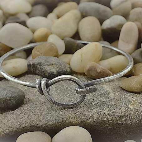 Elaine Kay Stirling Silver Hook and Loop Bracelet 021319