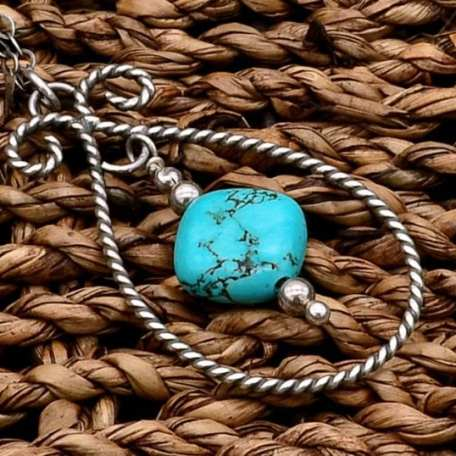 EK01114 Twisted Wire Turquoise Necklace 2