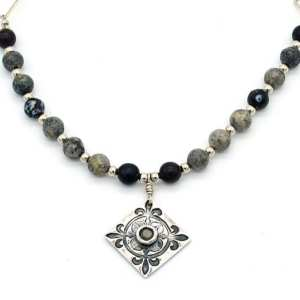 Richly Textured Fleur-de-lis Necklace