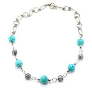 Bold Beaded Turquoise Necklace