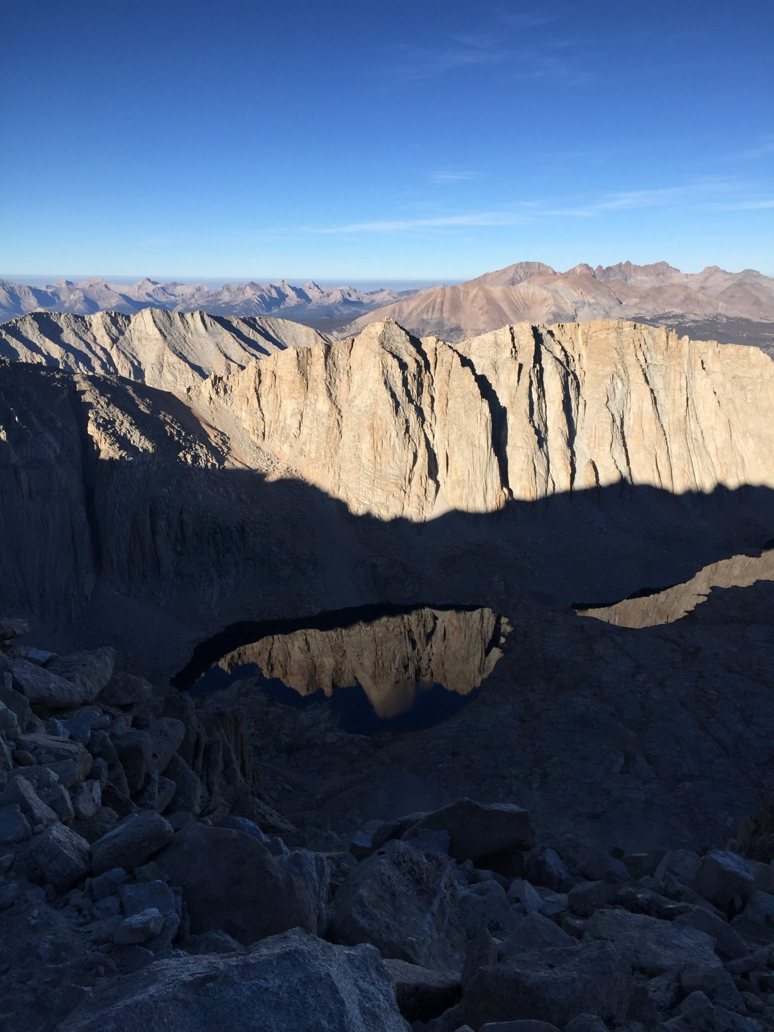 Climbing down from the summit of Mt. Whitney (1)