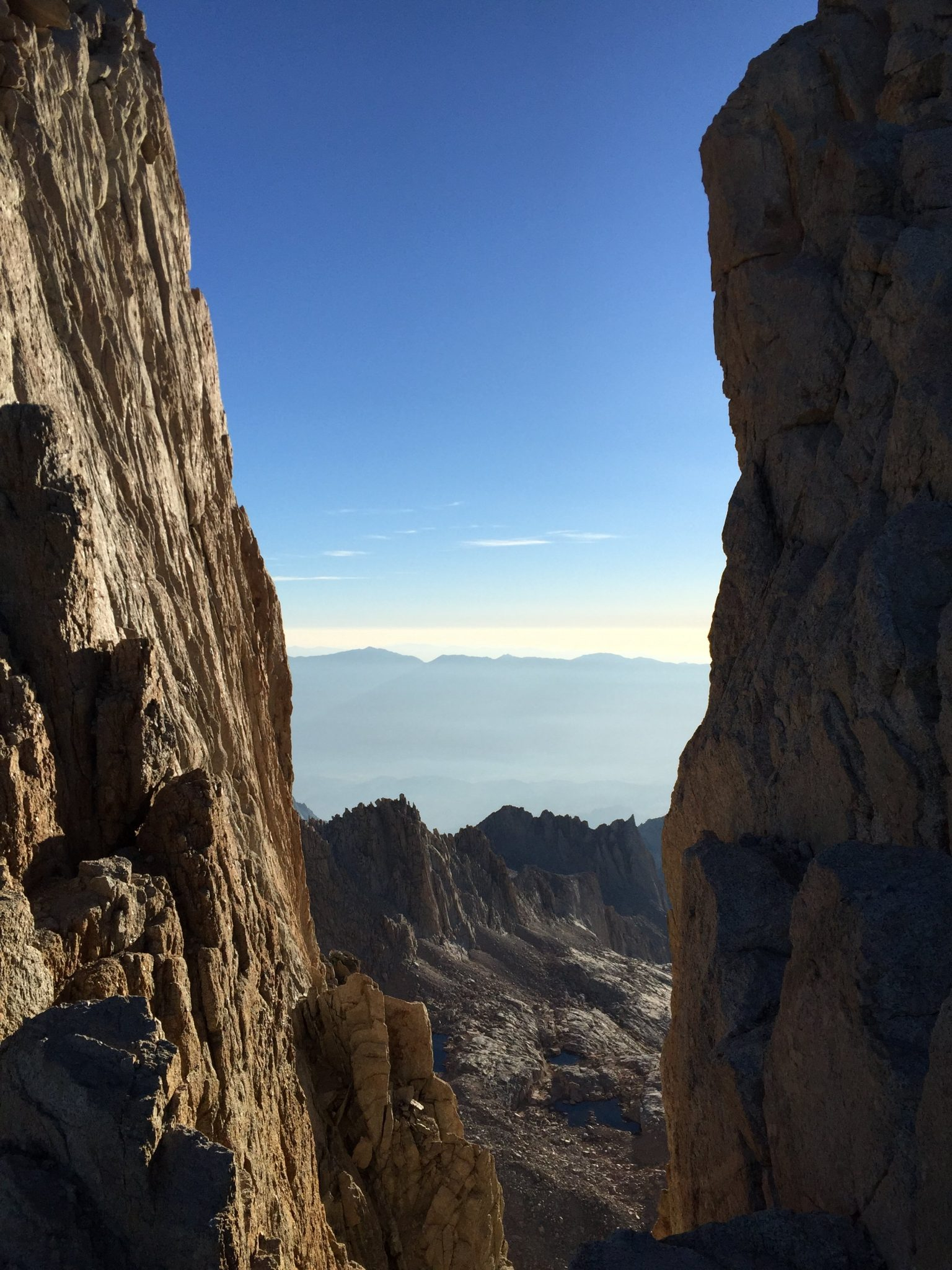 Climbing down from the summit of Mt. Whitney (5)