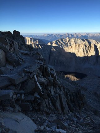 Climbing down from the summit of Mt. Whitney (8)