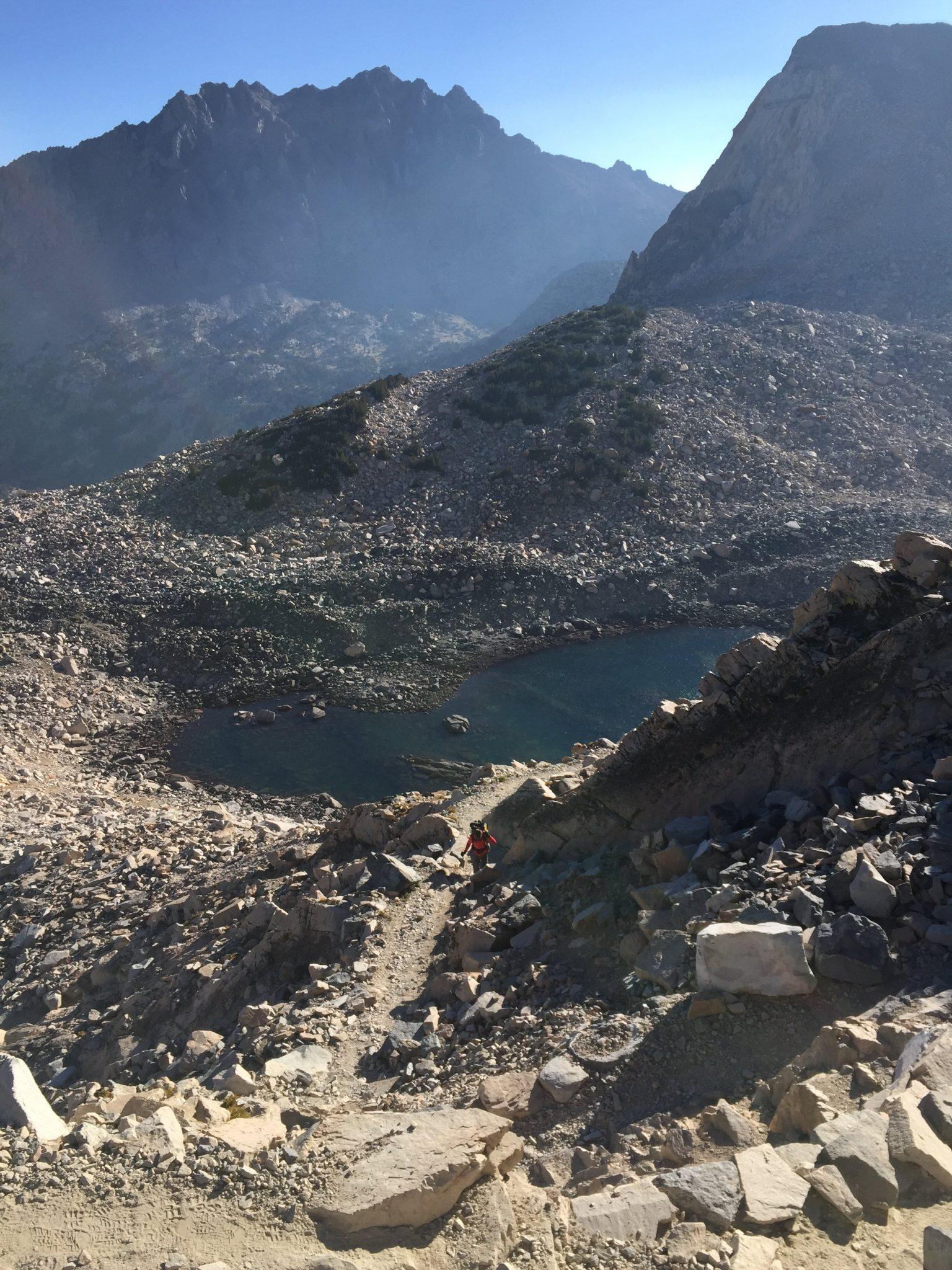 Climbing up to Glen Pass (1)