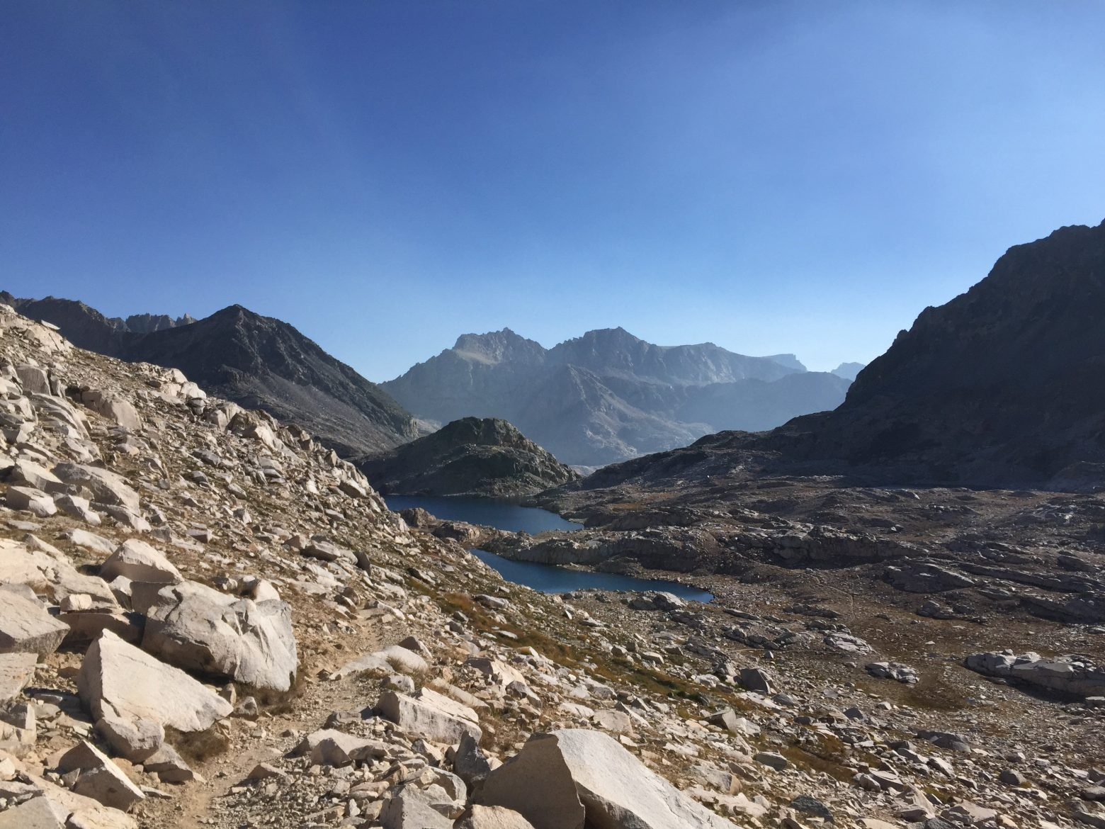 Coming down from Muir Pass (2)