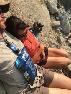 Relaxing at Woods Creek