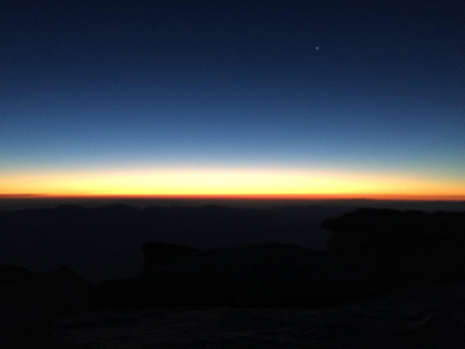 Sunrise on the summit of Mt. Whitney (2)