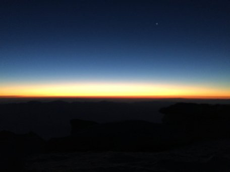 Sunrise on the summit of Mt. Whitney (2)
