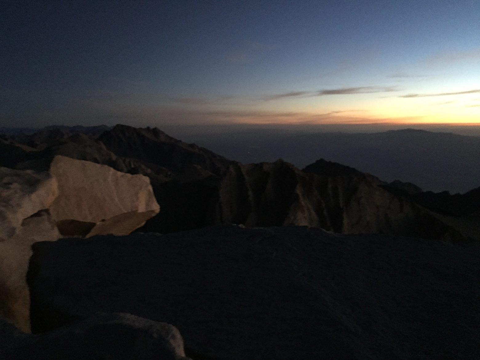 Sunrise on the summit of Mt. Whitney (3)
