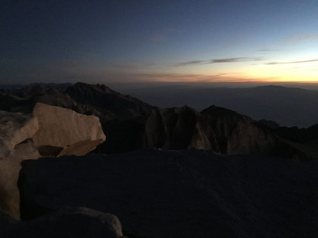 Sunrise on the summit of Mt. Whitney (3)