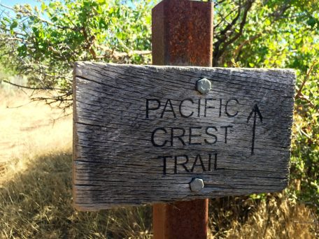 Another unique PCT sign pointing the way