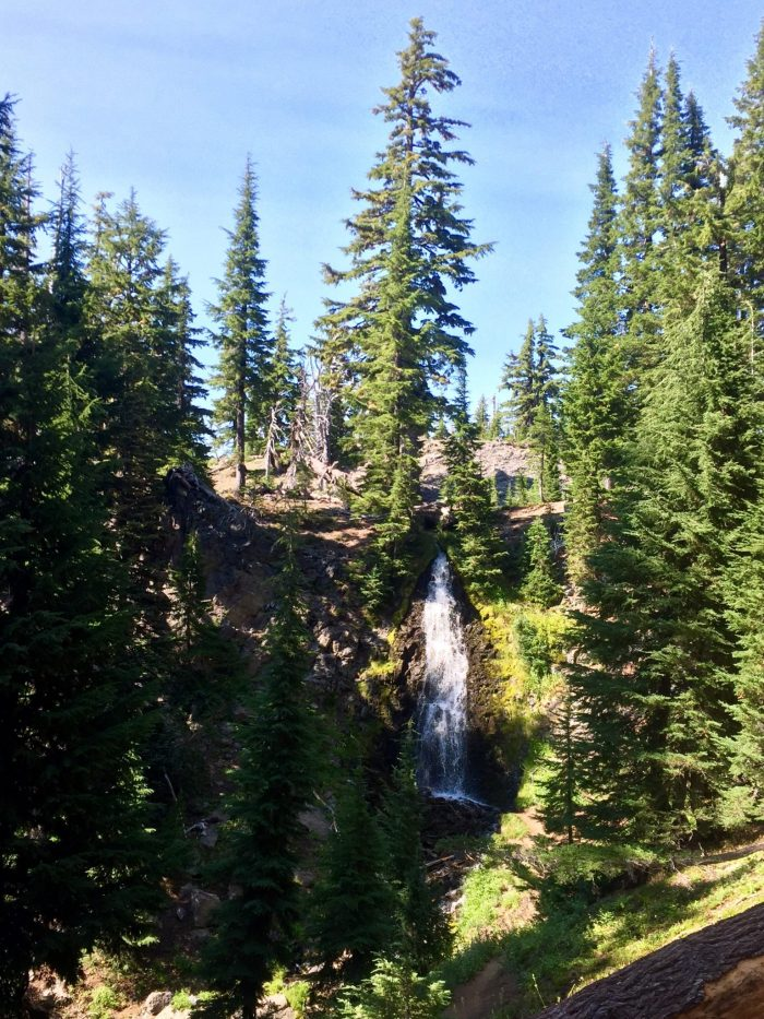 Obsidian Falls from an overlook on the PCT