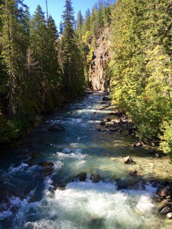 Rushing water in Agnes Creek