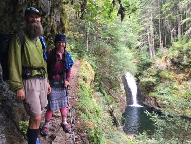 Beardoh and Sweet Pea on the Eagle Creek trail