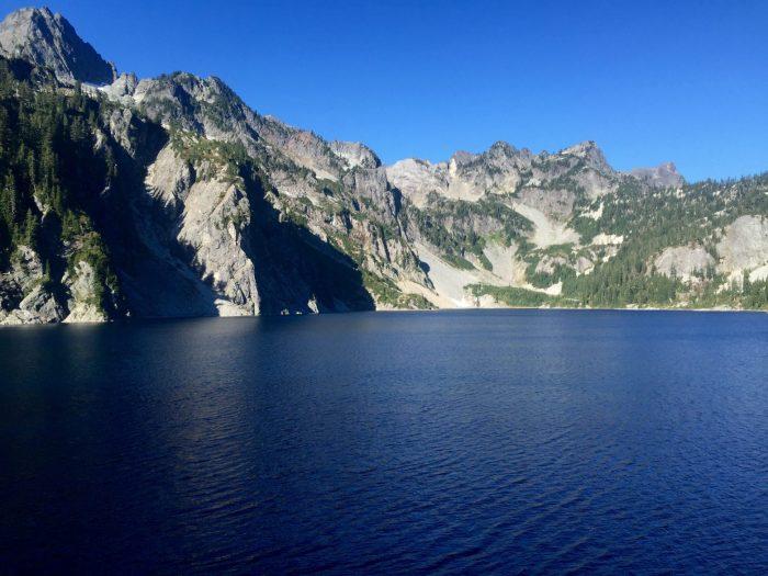 Along the shore of Snow Lake