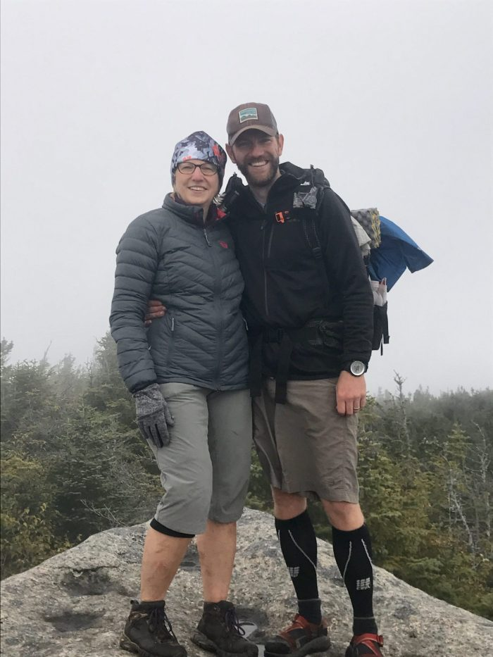 Mom and I on #46: Mt. Dix
