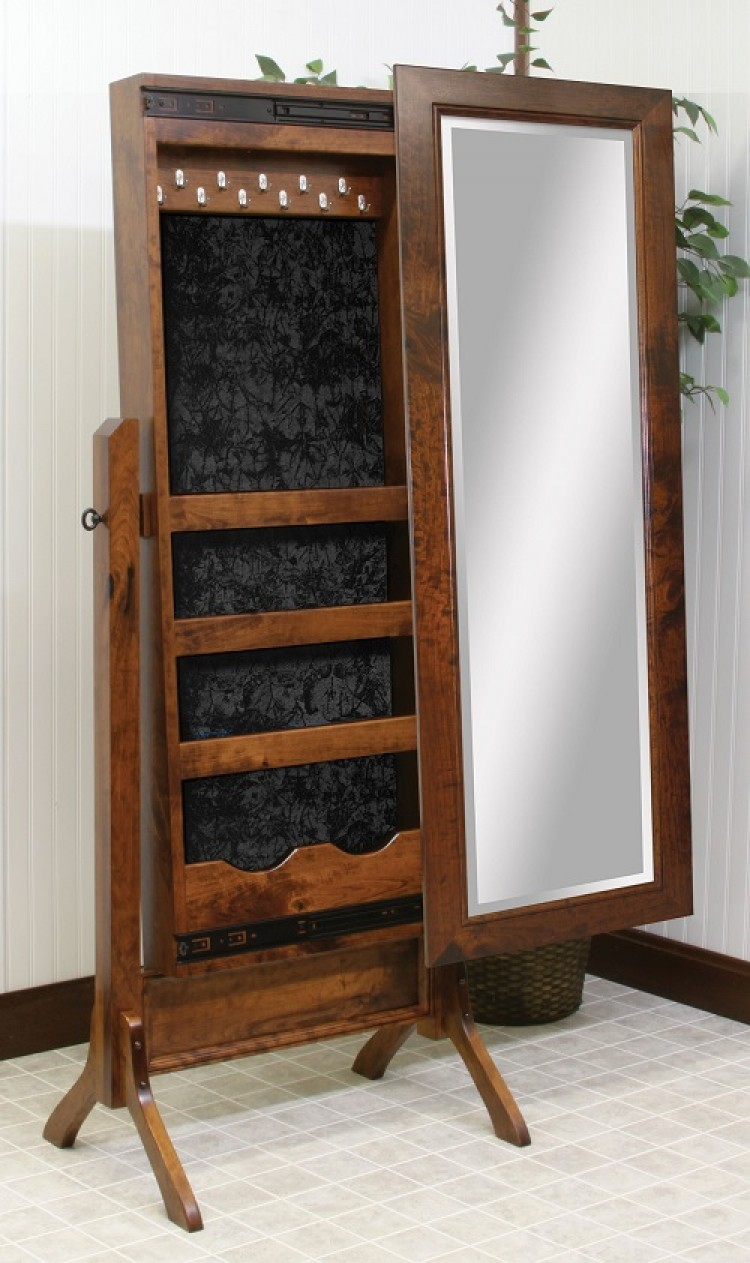 brooklyn shaker jewelry box cheval mirror 590 1027 105 8 bedroom chevel mirrors stone barn furnishings inc