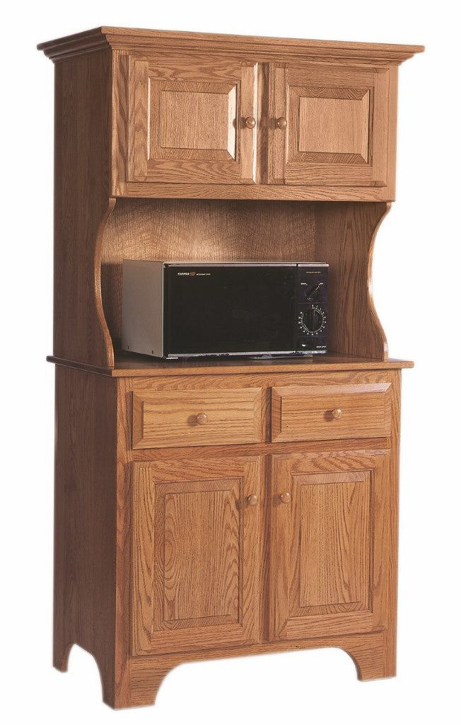 Microwave Carts Hutch Oak