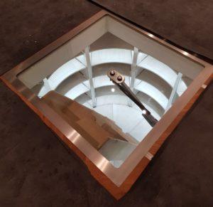 glass cellar door