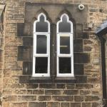 Before - Structural modifications turning window into door at a school in Bradford