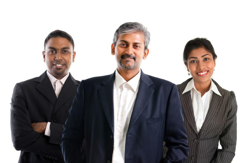 Indian businessteam.