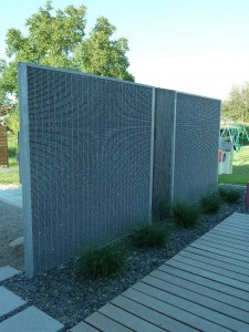 Stonefence : Mur gabion fin stonefence