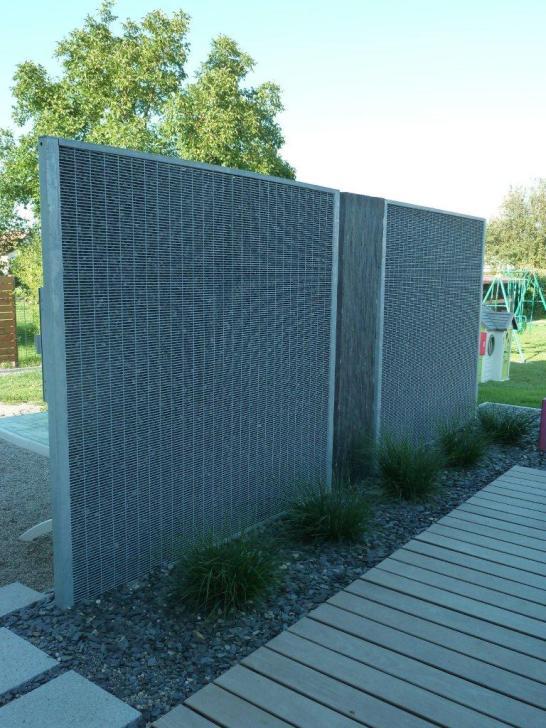 Mur gabion fin