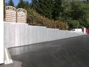 Parement mur exterieur en limite de propriété
