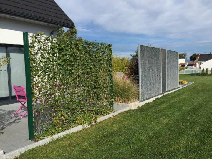 clotures vétéalisables fiber bipalis: le mur végétal | stonefence
