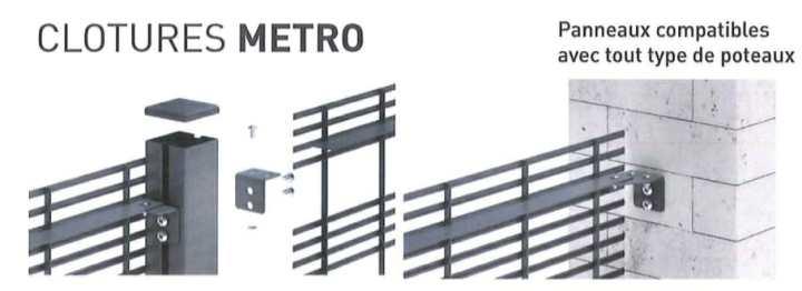 panneaux grillagés compatibles tous types poteaux