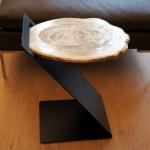 Z Table with Petrified Wood Surface