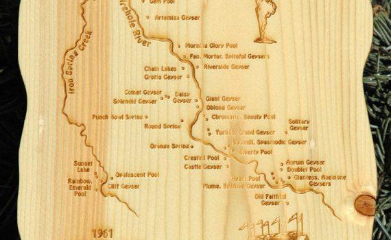 Own A Piece of Old Faithful Inn – 1961 Yellowstone Pine Old Faithful Inn Area Plaque