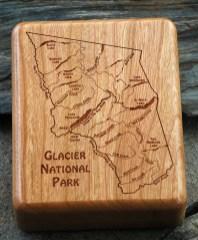 Glacier National Park River Map Fly Box