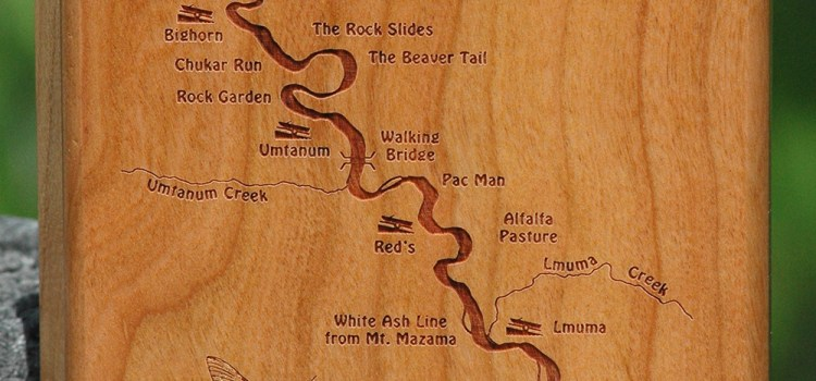 RED'S FLY SHOP – YAKIMA RIVER CANYON RIVER MAP FLY BOX – Thank you Stonefly Studio!