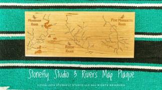 3 Rivers Map Plaque