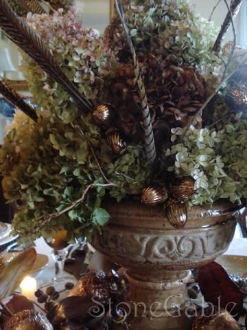 Hydrangeas In Rustic Urn- Tutorial