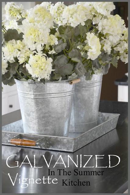 Galvanized Tin In The Summer Kitchen Stonegable