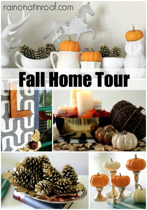 Fall Home Tour {rainonatinroof.com} #fall #tour