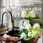 10 ELEMENTS OF A FARMHOUSE  KITCHEN