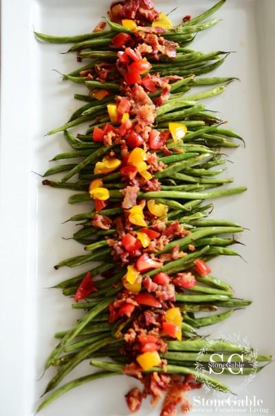roasted-green-beans-with garnish-stonegablelbog.ocm