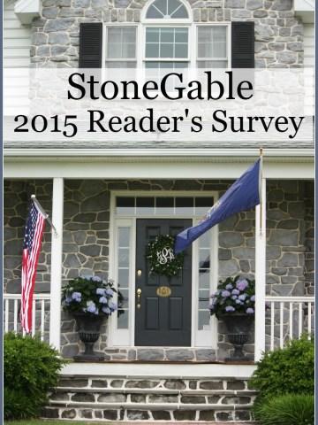 STONEGABLE READER SURVEY 2015