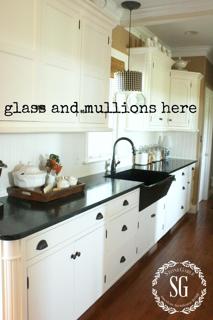 farmhouse kitchen changes glass front cabinets to do stonegableblogcom