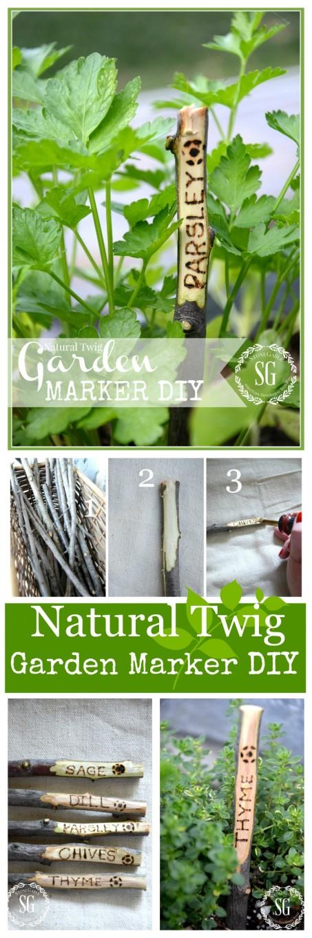 NATURAL TWIG GARDEN MARKER DIY - StoneGable
