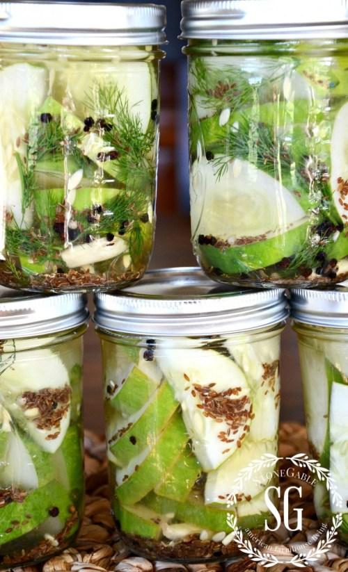 GARDEN TO TABLE-garlic dill pickles-stonegableblog.com