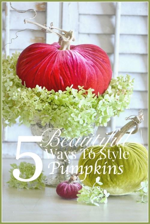 5 BEAUTIFUL WAYS TO STYLE PUMPKINS... AND AN AMAZING PUMPKIN ...